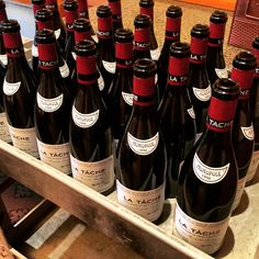 Heaven glimpsed: no pale clouds, no pearly gates, not even a golden harp; just a simple cart with 24 bottles of La Tache 1996, full and opened - #Burgundy #wine