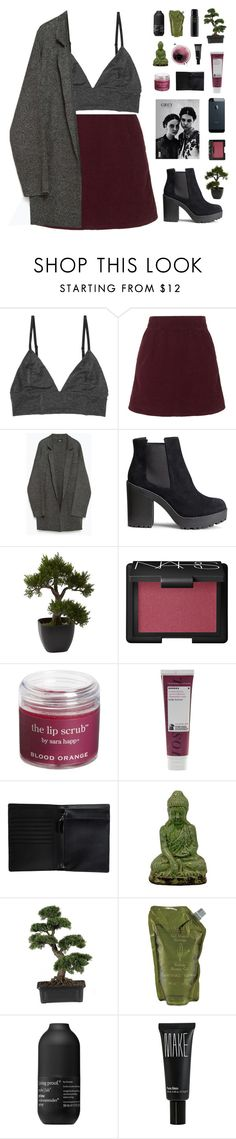 """"""" You have set your heart  on haunting me forever. """" by centurythe ❤ liked on Polyvore featuring Monki, Topshop, Zara, H&M, Nearly Natural, NARS Cosmetics, Sara Happ, Korres, Concord and Urban Trends Collection"""