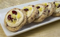 Tart and Sassy Cranberry Lemon Drop Cookies Holiday Cookie Recipes, Holiday Cookies, Lemon Drop Cookies, Yummy Cookies, Cookie Bars, Christmas Baking, Tart, Sassy, Lemon Drops