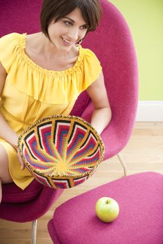 Tapestry Crochet bowl - pattern in July/August issue of Crochet Today