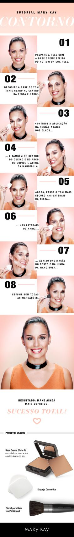 Tutorial de Contorno usando a Base Creme Efeito Pó Mary Kay! Makeup Inspo, Makeup Art, Makeup Inspiration, Makeup Tips, Health And Beauty Tips, Beauty Make Up, Mary Kay Party, Makeup Tattoos, Maquillage Halloween