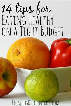 Eating Healthy on a Budget - You can do it!!! These tips will allow you to buy real, whole foods without clipping coupons. My grocery budget is $150 a month!