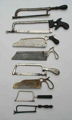 19th century  Medical Saws.