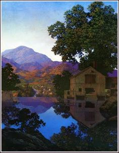 I want to live in a Maxfield Parrish painting