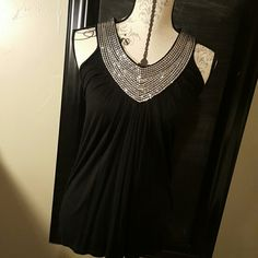 Christmas top This is a darling sequin top, no sequins missing, never been worn. Perfect for New Years Eve and or Christmas. c. oliver Tops Tank Tops