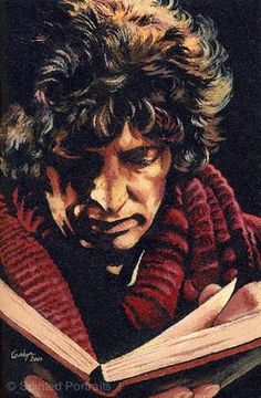 DOCTOR WHO - Ltd Ed Fine Artwork A4 Print by Carolyn Edwards - TOM BAKER. You never forget your first Doctor.