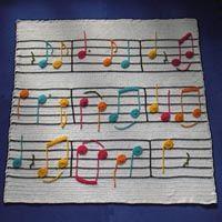 adorable music score quilt!