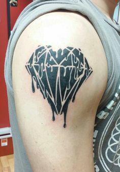 Melting diamond tattoo. thank u sage