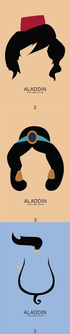 Minimal Movie Posters - Aladdin (aka the best Disney animated movie)