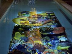 """""""I swim in my lap pool at the Boathouse every day."""" -Dale Chihuly"""