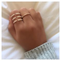 Cozy today in the #ALEXMIKA Madison #Ring & Rose Gold Band  alexmikajewerlry.com.