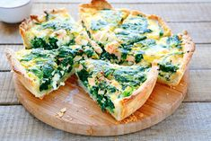 The ultimate spinach and salmon quiche Low Carb Recipes, Cooking Recipes, Healthy Recipes, Ultimate Spinach, Tortas Low Carb, Salmon Quiche, Brain Boosting Foods, Spinach Quiche, Spinach Tart