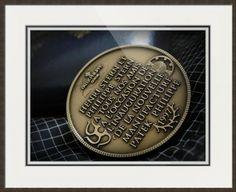 "Patek Philippe Geneve Commemorative Medal Coin // Paper: enhanced matte; Glazing: acrylic; Moulding: silver, cintra pewter; Top Mat: white/cream, porcelain; Middle Mat: blue, midnight; Bottom Mat: white/cream, topaz // Price starts at $156 (Petite: 18.5"" x 20.5""). // Customize at http://www.imagekind.com/Patek-Philippe-Geneve-PPG_art?IMID=02d2d878-c1ec-4135-b5f1-3c17e7a5ee8b"