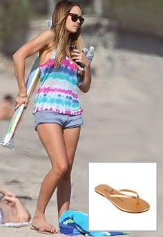 b902db9c1 Tkees Highlighter Metallic Leather Sandals - as seen on Lauren Conrad