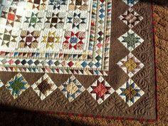 Millennium Stars pattern Sue Garmin, made with Civil War repro fabrics.