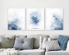 Check out our set of 3 blue art selection for the very best in unique or custom, handmade pieces from our shops.