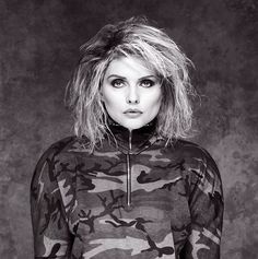 Brian Aris: Debbie Harry, Cammo Outfit, Holborn Studios, London, 1987.