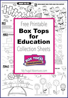 Free Printable Box Tops for Education Worksheets