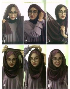 Beautiful 2 Minutes Hijab Tutorial For Glasses - Hijab Fashion Inspiration This. Beautiful 2 Minutes Hijab Tutorial For Glasses – Hijab Fashion Inspiration This is a fun and eas Square Hijab Tutorial, Simple Hijab Tutorial, Hijab Style Tutorial, Scarf Tutorial, Islamic Fashion, Muslim Fashion, Hijab Wedding, How To Wear Hijab, Stylish Hijab
