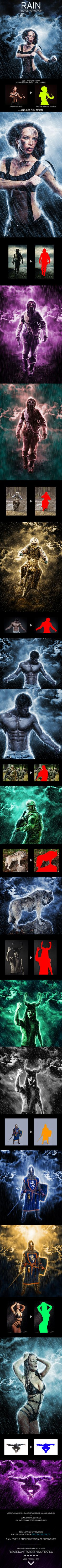 Rain Photoshop Action by Eugene-design Rain Action – this is an effect that creates a realistic rain on your photos. Action include a drop of rain, splashing and drippi Best Photoshop Actions, Cool Photoshop, Effects Photoshop, Photoshop Photos, Photoshop Design, Photoshop Photography, Photoshop Tutorial, Photography Tutorials, Creative Photography