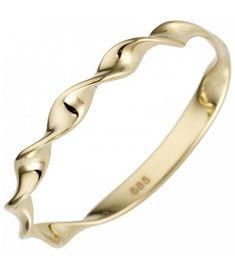 Damen Ring gedreht 585 Gold Gelbgold Goldring - Bild 1 Zoom Ringe Gold, Bangles, Bracelets, Ebay, Jewelry, Fashion, Watches, Yellow, Paradise