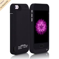 """For iPhone 5/5s Charger Case, BSWHW 4200mAh 4"""" iPhone 5/5s Portable Battery Bank with Built-in Kickstand Extended Juice Bank Rechargeable Power Battery Pack Backup Juice Bank  https://topcellulardeals.com/product/for-iphone-5-5s-charger-case-bswhw-4200mah-4-iphone-5-5s-portable-battery-bank-with-built-in-kickstand-extended-juice-bank-rechargeable-power-battery-pack-backup-juice-bank/  Built in power bank and the USB port on the side of the case allows you to charge another iP"""