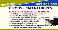 Reparación Termos y Calentadores Alcantarilla