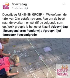 Doe vrijdag Tafel estafette groep 4 Kids Education, Fun Learning, Good To Know, Gym, Math, Sports, Stage, Google, Early Education