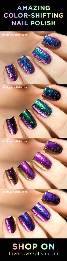 20 amazing color-shifting colors available on Live Love Polish! Nail Polish Designs, Cute Nail Designs, Nail Polish Colors, Fancy Nails, Love Nails, How To Do Nails, Fabulous Nails, Gorgeous Nails, Pretty Nails