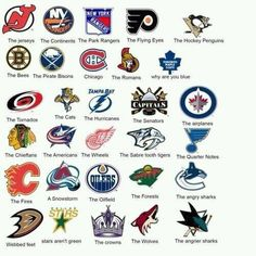 Puck Bunny versions of NHL teams