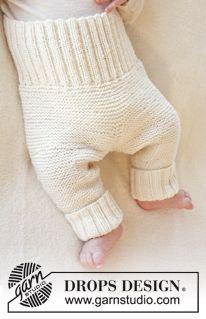 """Smarty Pants - Calças DROPS em ponto jarreteira, em """"Baby Merino"""". Tamanhos prematuro a 4 anos. - Free pattern by DROPS Design"""