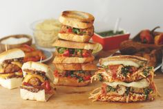 Take your pick - Meatball Pesto Grilled Cheese, Roasted Pepper Meatball Sandwich, Curried Meatball Sliders! Three easy sandwich recipes for any time.