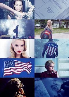 "The Avengers genderswap▶ Amber Heard as Stephanie Rogers    ""I'm just a kid from Brooklyn."""