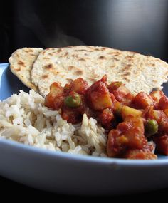 Slow-cooker Vegetarian Tikka Masala.  No, it's not authentic.  But on a busy day, with a little homemade naan, this would be really great. :)