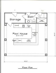 ideas about Pool House Plans on Pinterest   Pool Houses    Pool house plans complete