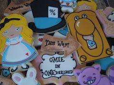 Handmade and Decorated Alice in Wonderland Sugar by FlourishCakes,