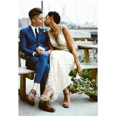 Love and Marriage Lesbian Wedding Photos, Lgbt Wedding, Wedding Kiss, Wedding Attire, Dream Wedding, Wedding Day, Wedding Dresses, Wedding Menu, Wedding Outfits