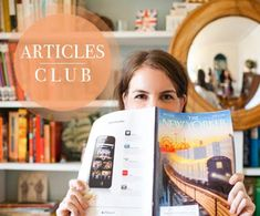 An articles club..kinda like a book club but way more manageable. Great idea. May look into doing this with some friends.