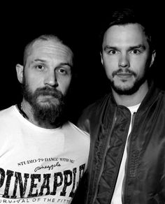 Tom Hardy and Nicholas Hoult - April 2015