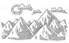 Resultado de imagem para montanha desenho