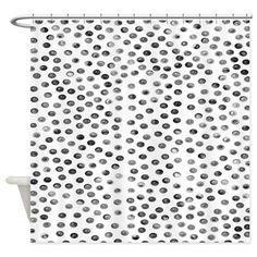 #Black #Polka #Dots #Shower #Curtain