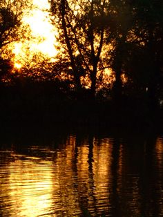 Sunset on the River 1