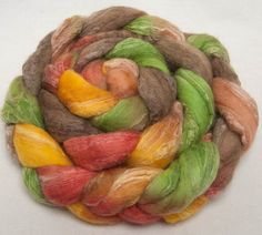 Spin felt roving 150g Extra Fine Merino 18.5, CASHMERE 20, Bleached Tussah Silk 20 hand painted top roving fibre fiber by YummyYarnsUK on Etsy
