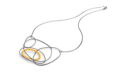 Liz Willis Jewellery features in the Makers Fair in Victoria Hall, Saltaire 28th-30th May.  Silver wire stitched over with silk threads, and sometimes pearls or stones added.  #necklace