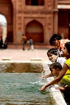 Children at Jama Mashjid, India...