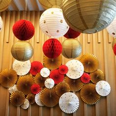 Asian Party Decorations, Chinese New Year Decorations, New Years Decorations, Chinese New Year Party, Chinese Theme, New Years Party, New Year's Crafts, Diy Crafts Videos, Japanese Party