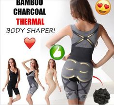 dd69d0d566e 7 Desirable Bamboo Charcoal Thermal Body Shaper images in 2019