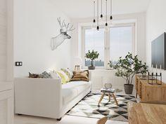 Проект малогабаритной квартиры в скандинавском стиле от студии CubiqStudio