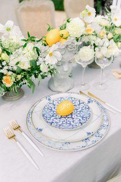Dinner Party Decorations, Spring Wedding Decorations, Bridal Shower Decorations, Wedding Plates, Wedding Table, Greek Decor, Greece Wedding, Spring Party, Wedding Designs
