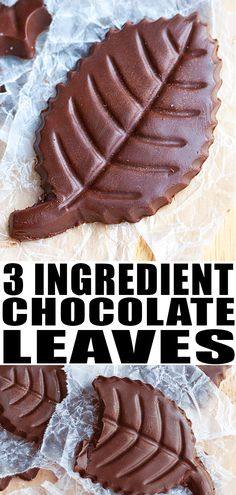HOMEMADE CHOCOLATE RECIPE- Learn how to make chocolate leaves from scratch with 3 simple ingredients in 30 minutes. This healthy dessert is no bake, r Chocolate Bark, How To Make Chocolate, Homemade Chocolate, Chocolate Desserts, Easy Desserts, Delicious Desserts, Dessert Recipes, Keto Desserts, Chocolate Lovers